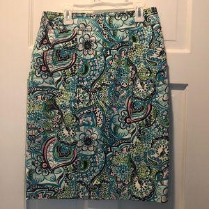Fun print Lily Pulitzer twill skirt